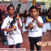 Keren! Aksi Penembak Cilik di JBR Shooting School