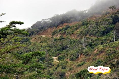 jalan di urat - urat gunung