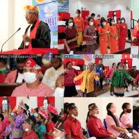Foto Ibadah HUT Pekabaran Injil Jemaat Ekklesia Doyo Baru Dalam Nuansa Etnik